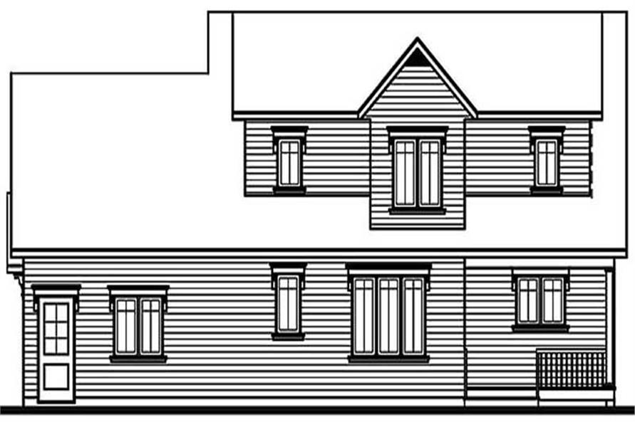 Home Plan Rear Elevation of this 3-Bedroom,1864 Sq Ft Plan -126-1209