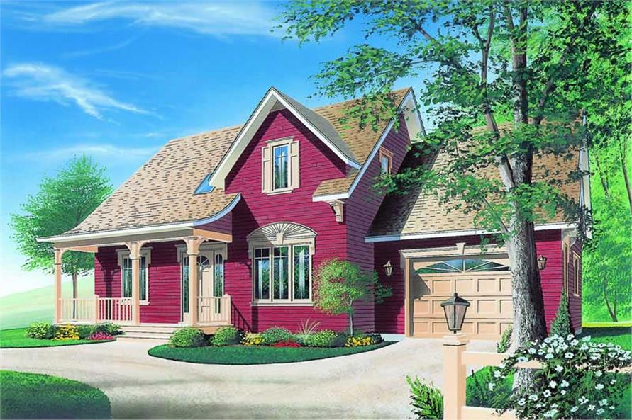 3-Bedroom, 1864 Sq Ft Country Home Plan - 126-1209 - Main Exterior