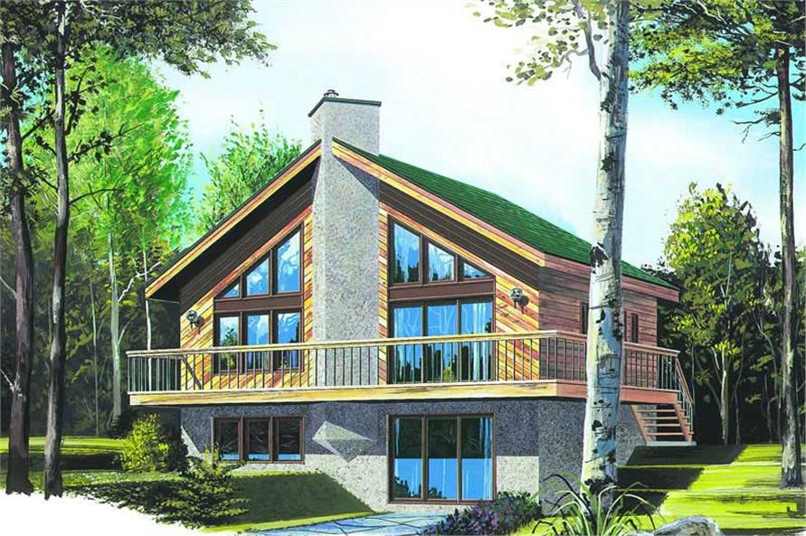 3-Bedroom, 1574 Sq Ft Contemporary House Plan - 126-1211 - Front Exterior