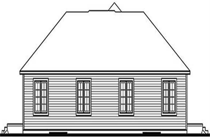 Home Plan Rear Elevation of this 2-Bedroom,1676 Sq Ft Plan -126-1214
