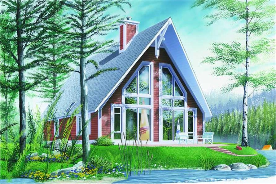 2-Bedroom, 1280 Sq Ft Contemporary House Plan - 126-1215 - Front Exterior