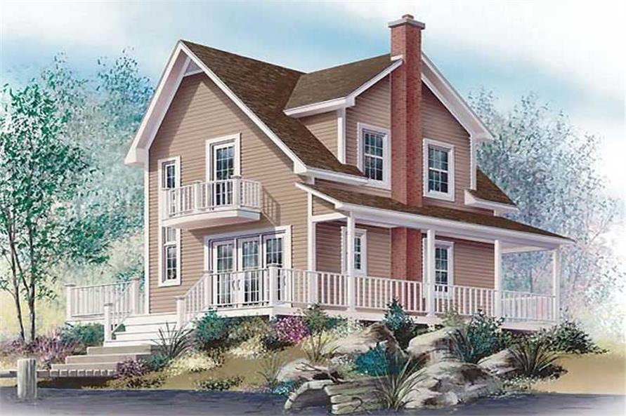 Deck of this 3-Bedroom,1002 Sq Ft Plan -1002