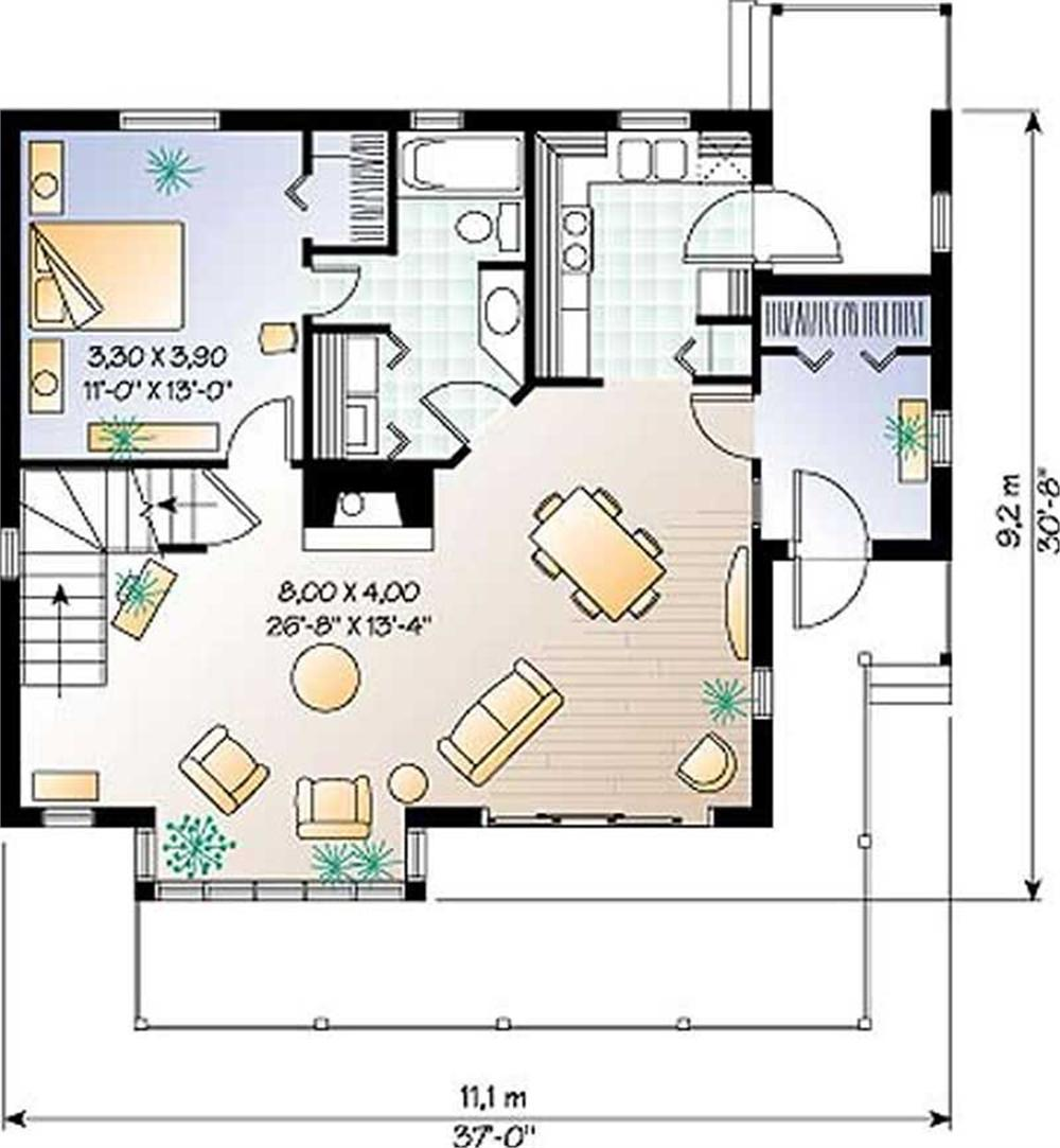 Large Images For House Plan 126 1227