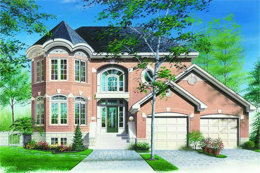 3-Bedroom, 2091 Sq Ft Contemporary House Plan - 126-1228 - Front Exterior