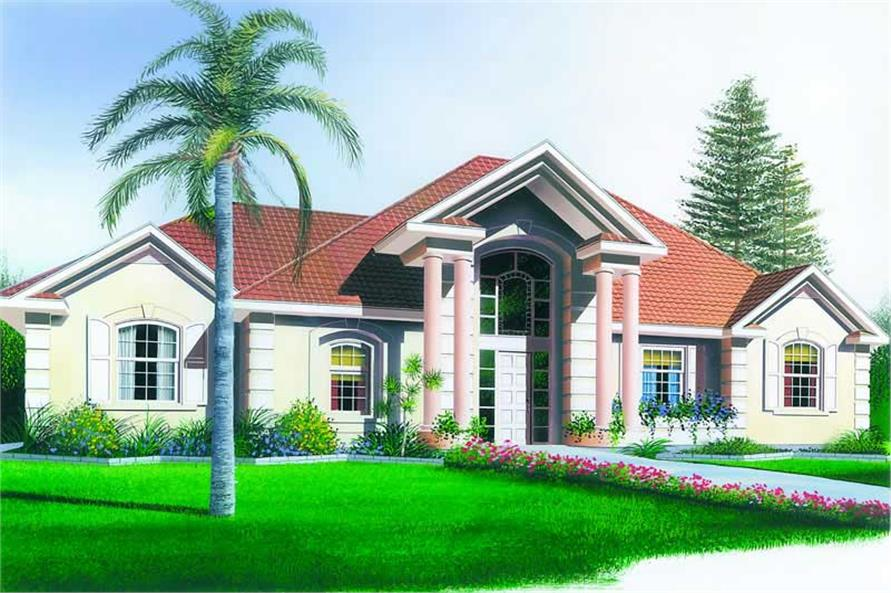 3-Bedroom, 1736 Sq Ft Contemporary House Plan - 126-1229 - Front Exterior