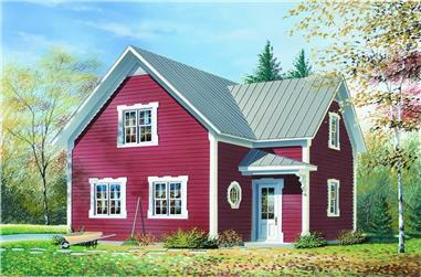2-Bedroom, 1246 Sq Ft Country House Plan - 126-1232 - Front Exterior