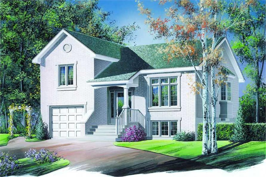 3-Bedroom, 1109 Sq Ft Contemporary Home Plan - 126-1234 - Main Exterior