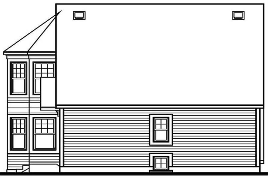 Home Plan Rear Elevation of this 2-Bedroom,1324 Sq Ft Plan -126-1236