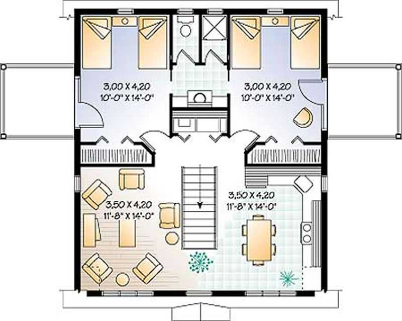 Garage vacation homes country ranch farmhouse house for Second story floor plan