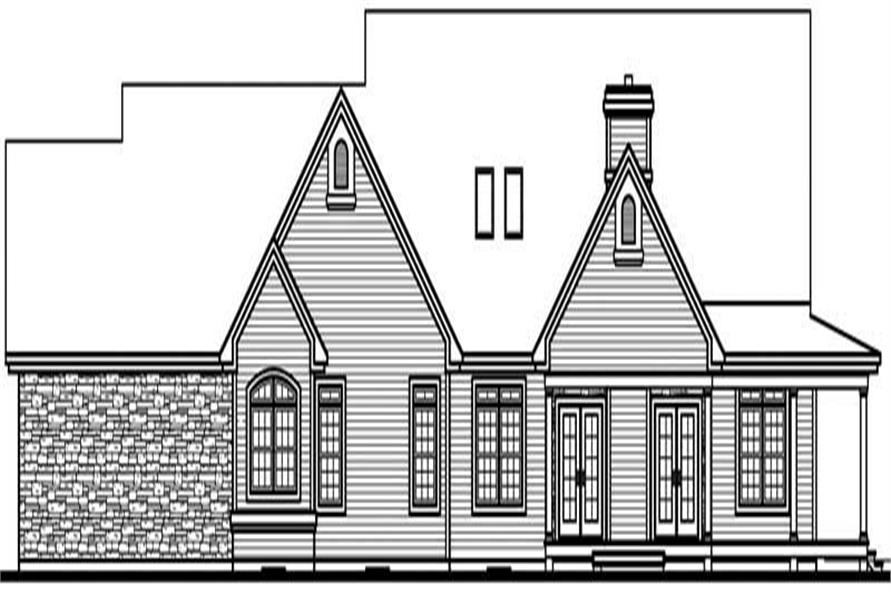 Home Plan Rear Elevation of this 3-Bedroom,2760 Sq Ft Plan -126-1239