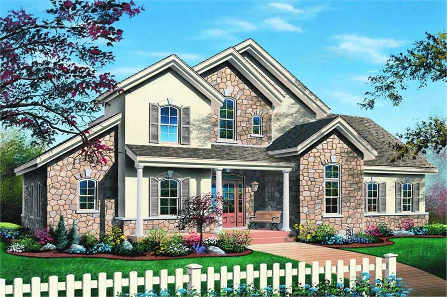 3-Bedroom, 2300 Sq Ft Traditional House Plan - 126-1241 - Front Exterior
