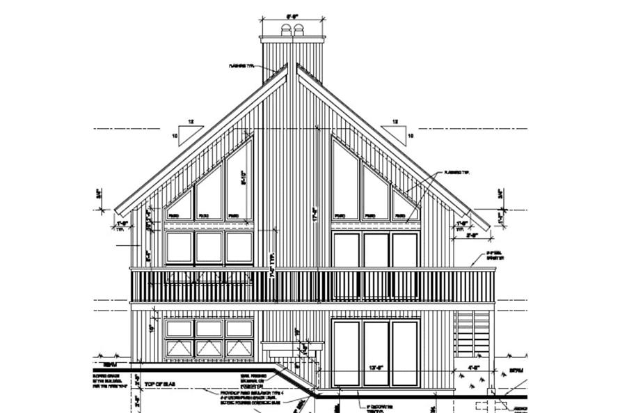 Home Plan Front Elevation of this 3-Bedroom,1077 Sq Ft Plan -126-1242