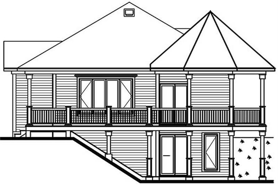 Beachfront Vacation Homes Victorian House Plans Home Design DD - House designs with master bedroom at rear