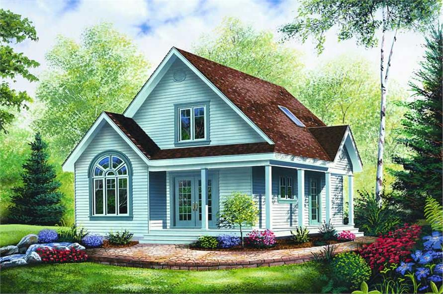 3-Bedroom, 1168 Sq Ft Country House Plan - 126-1244 - Front Exterior