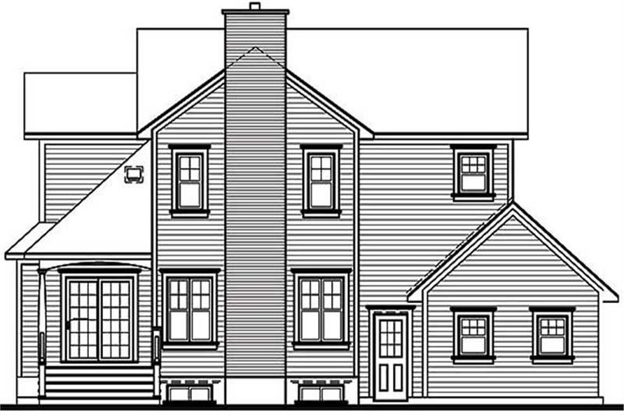 Home Plan Rear Elevation of this 3-Bedroom,2426 Sq Ft Plan -126-1246