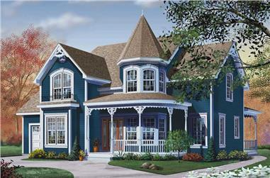 3-Bedroom, 2590 Sq Ft Victorian Home Plan - 126-1248 - Main Exterior