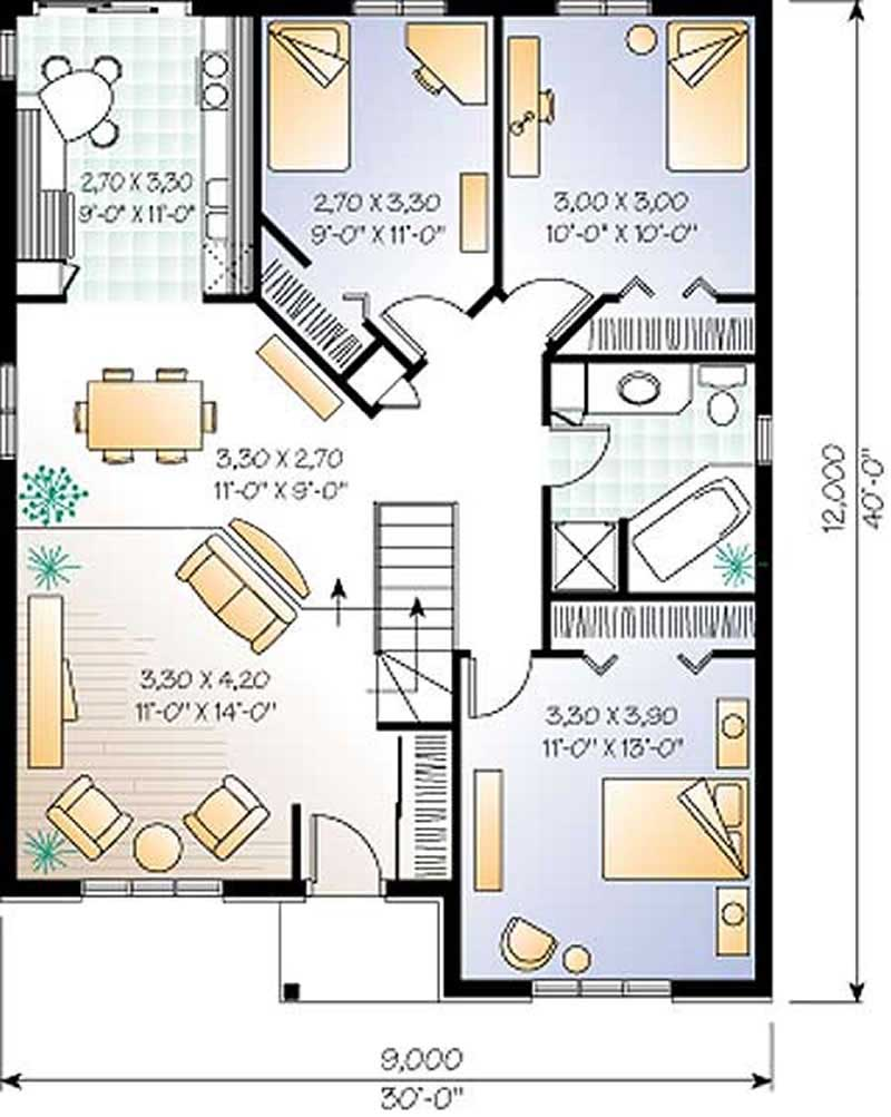 bungalow floor plans small european bungalow floor plan 3 bedroom 1131 sq ft 2348