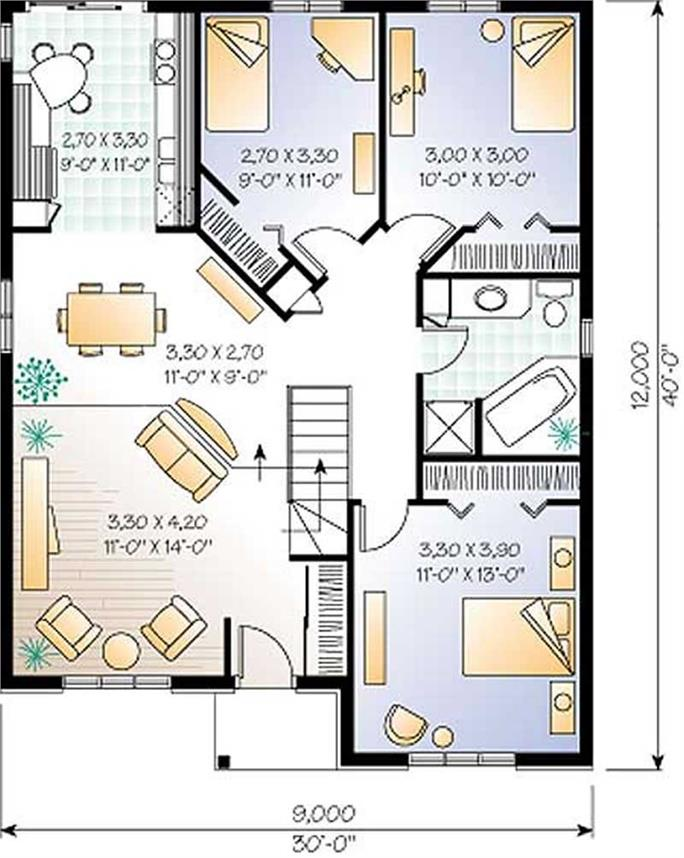 Amazing ... Floor Plan First Story Of Bungalow Plan #126 1251