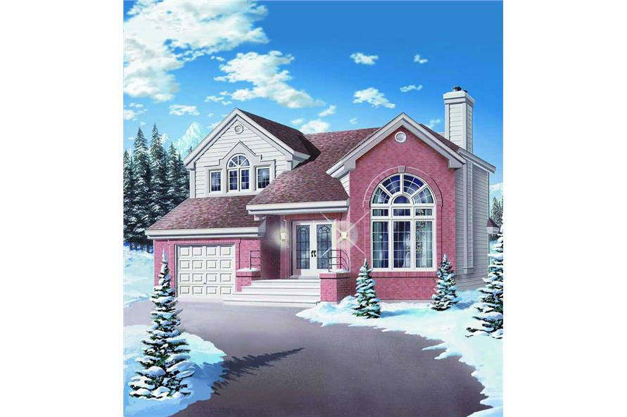 3-Bedroom, 1659 Sq Ft Contemporary House Plan - 126-1252 - Front Exterior