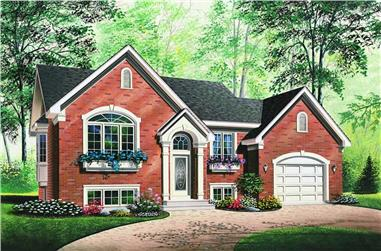 2-Bedroom, 1142 Sq Ft Contemporary House Plan - 126-1253 - Front Exterior
