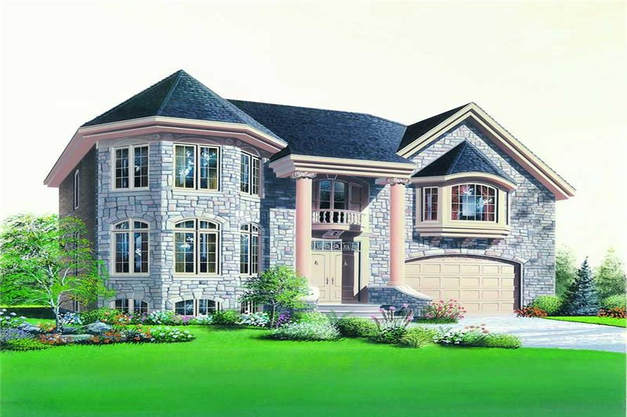 4-Bedroom, 2663 Sq Ft Contemporary House Plan - 126-1257 - Front Exterior
