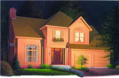 4-Bedroom, 2122 Sq Ft Traditional House Plan - 126-1259 - Front Exterior