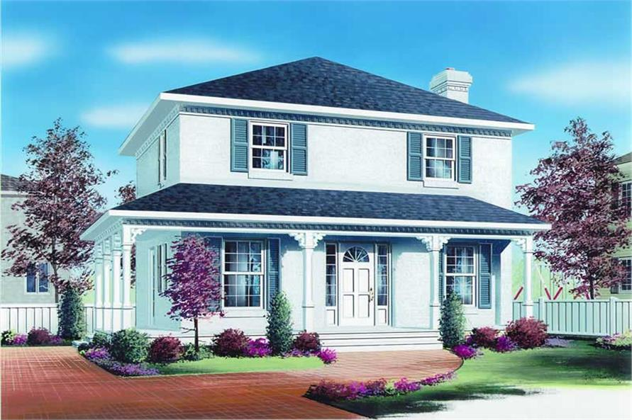 3-Bedroom, 1560 Sq Ft Country House Plan - 126-1260 - Front Exterior