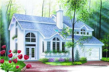 3-Bedroom, 2116 Sq Ft Contemporary House Plan - 126-1261 - Front Exterior