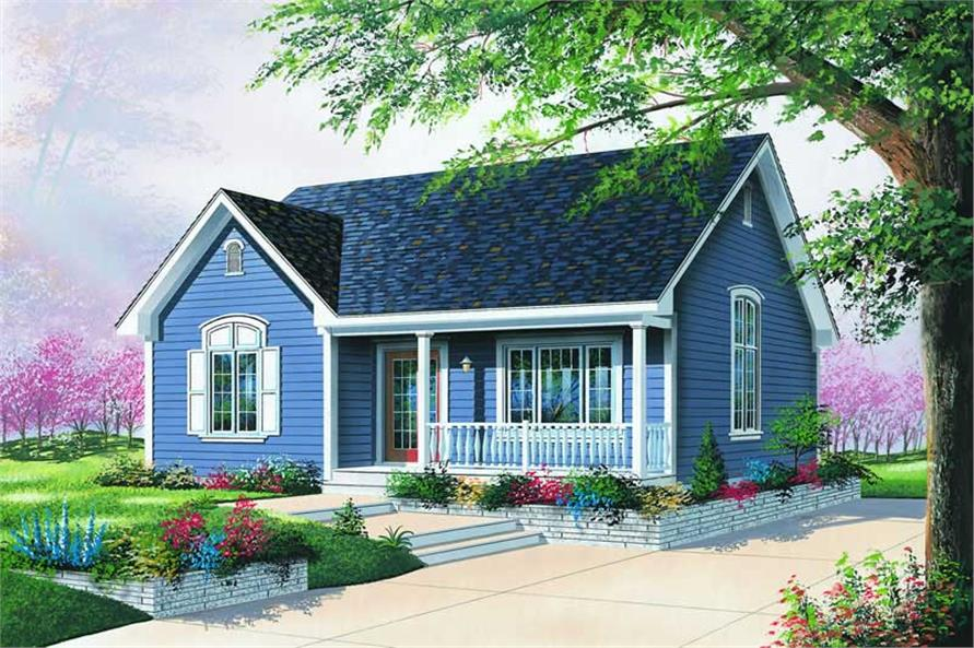 2-Bedroom, 1079 Sq Ft Country House Plan - 126-1264 - Front Exterior