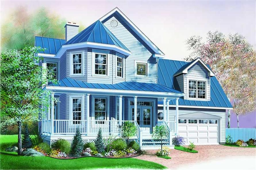 3-Bedroom, 2175 Sq Ft Country House Plan - 126-1266 - Front Exterior