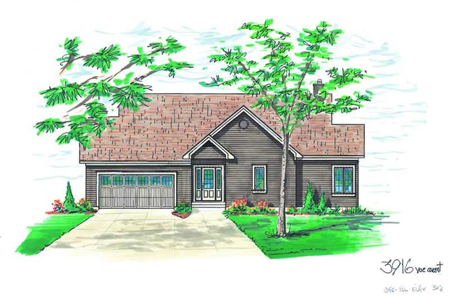 Home Plan Rendering of this 4-Bedroom,2812 Sq Ft Plan -126-1268