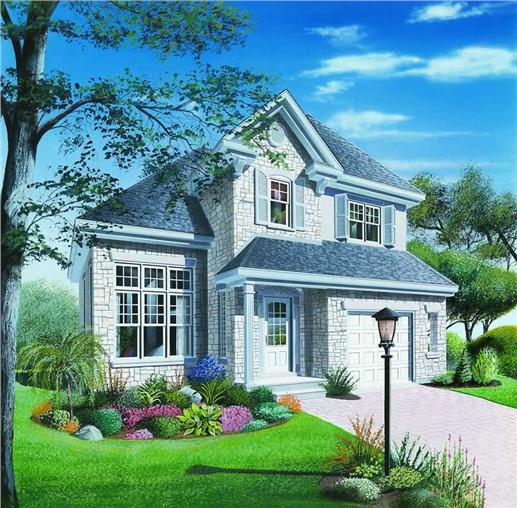 Small, Contemporary, European House Plans - Home Design DD-2825 # 4187
