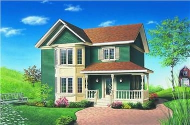 3-Bedroom, 1286 Sq Ft Craftsman Home Plan - 126-1270 - Main Exterior