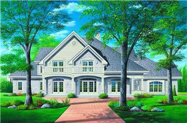 5-Bedroom, 4204 Sq Ft Ranch Home Plan - 126-1271 - Main Exterior