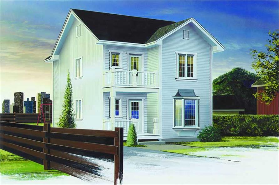 3-Bedroom, 1245 Sq Ft Small House Plans - 126-1272 - Main Exterior