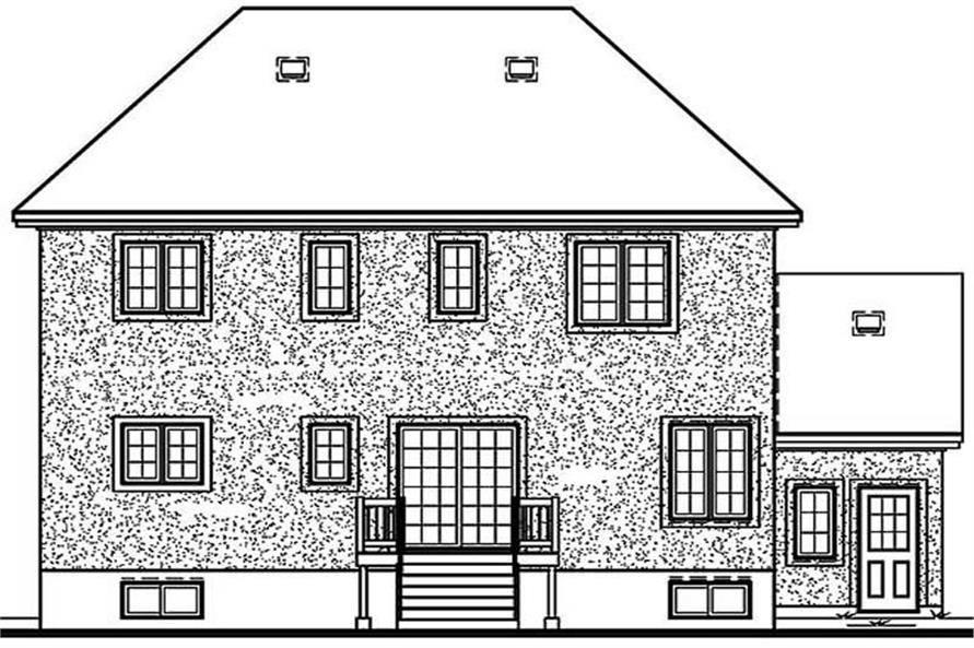 Home Plan Rear Elevation of this 3-Bedroom,1996 Sq Ft Plan -126-1273