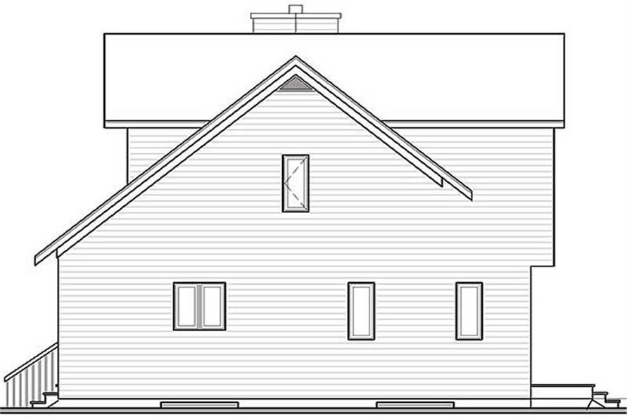 Home Plan Rear Elevation of this 2-Bedroom,1311 Sq Ft Plan -126-1275