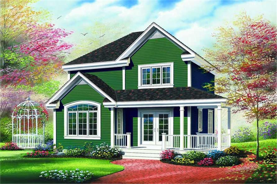 3-Bedroom, 1530 Sq Ft Country House Plan - 126-1276 - Front Exterior