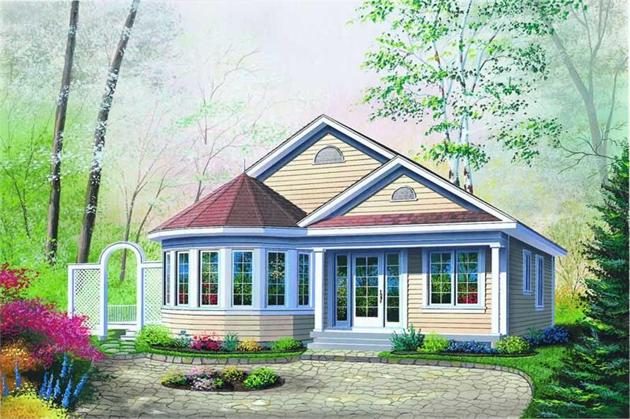 2-Bedroom, 1069 Sq Ft Bungalow House Plan - 126-1278 - Front Exterior