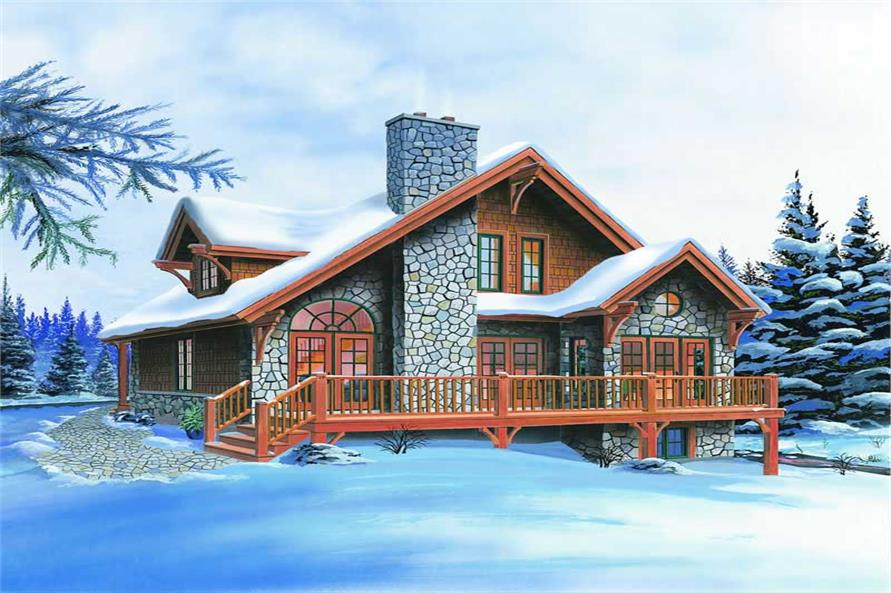 3-Bedroom, 1659 Sq Ft Vacation Homes House Plan - 126-1280 - Front Exterior