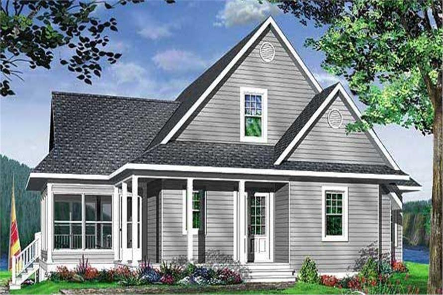 Home Plan Front Elevation of this 3-Bedroom,1832 Sq Ft Plan -126-1281