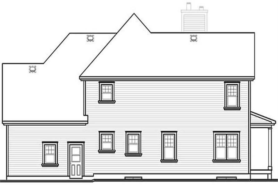 Home Plan Rear Elevation of this 3-Bedroom,2300 Sq Ft Plan -126-1286