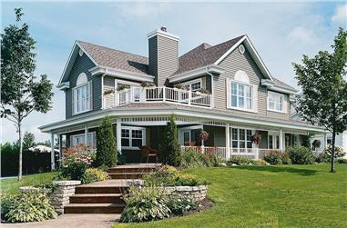 3-Bedroom, 2350 Sq Ft Country House Plan - 126-1286 - Front Exterior