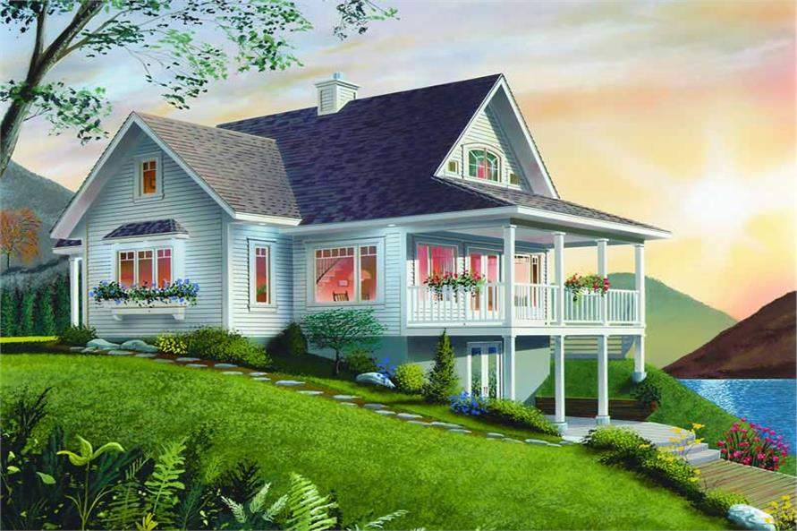 Home Plan Rendering of this 2-Bedroom,1480 Sq Ft Plan -126-1287