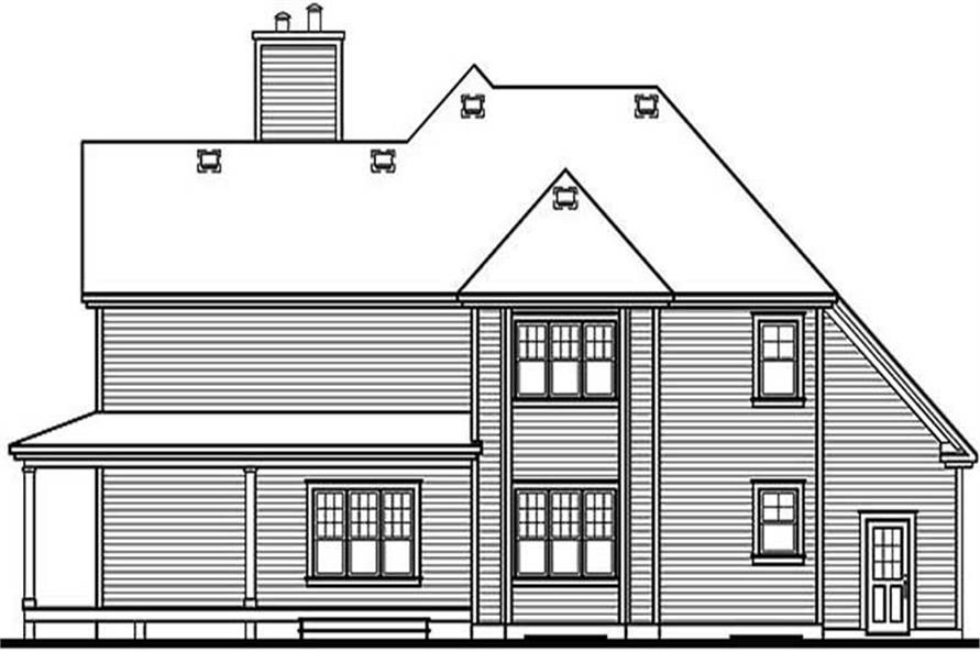 Home Plan Rear Elevation of this 3-Bedroom,2687 Sq Ft Plan -126-1294