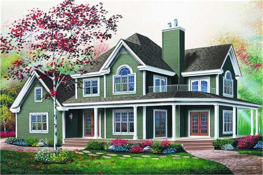 126-1294: Home Plan Rendering-Front Door