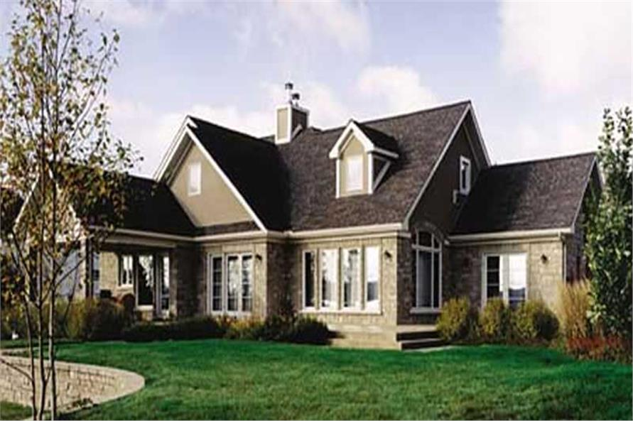 4-Bedroom, 2012 Sq Ft Traditional House Plan - 126-1296 - Front Exterior