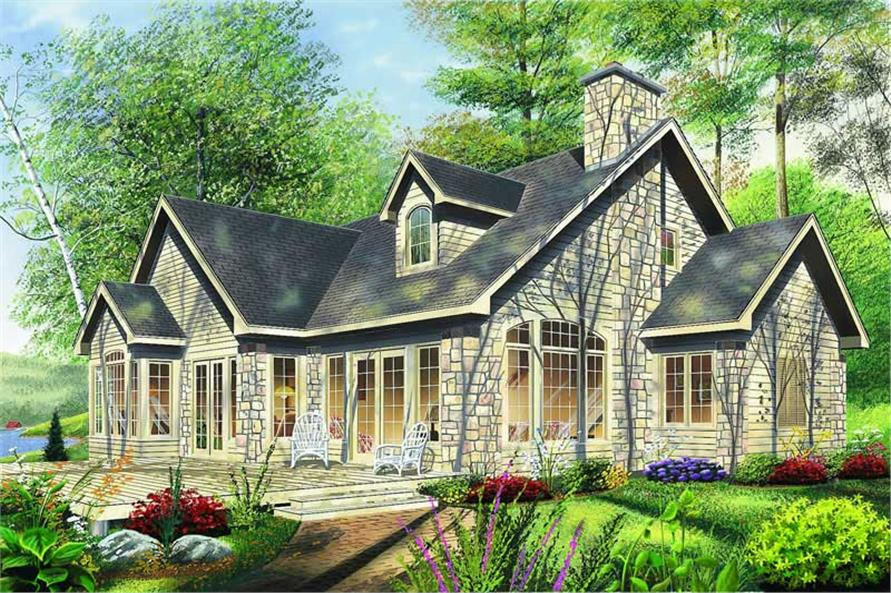 Home Plan Rendering of this 4-Bedroom,2012 Sq Ft Plan -126-1296