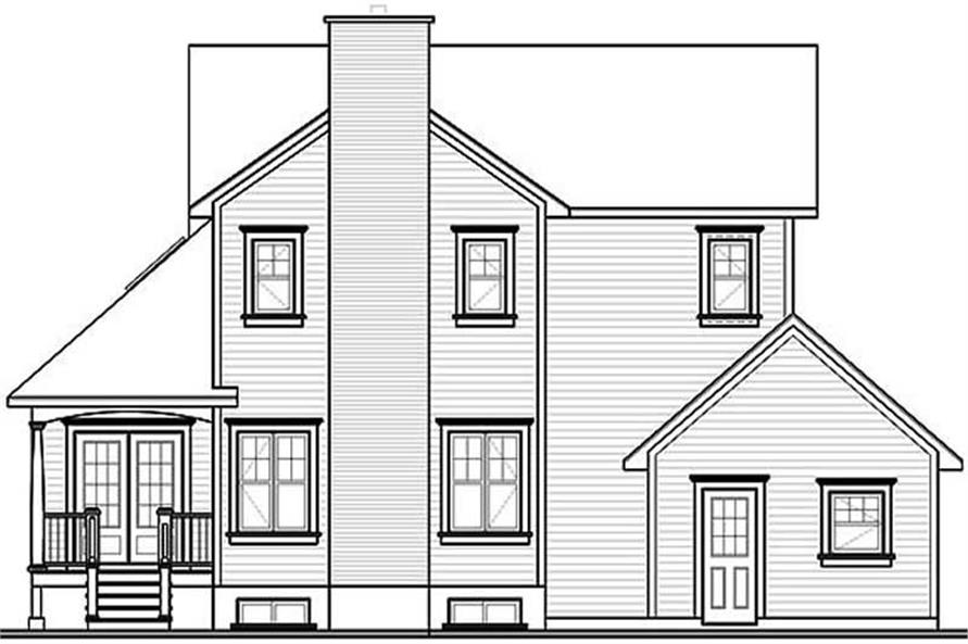 Home Plan Rear Elevation of this 3-Bedroom,2257 Sq Ft Plan -126-1297