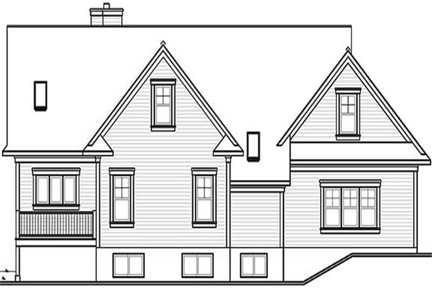 Home Plan Rear Elevation of this 3-Bedroom,2497 Sq Ft Plan -126-1298